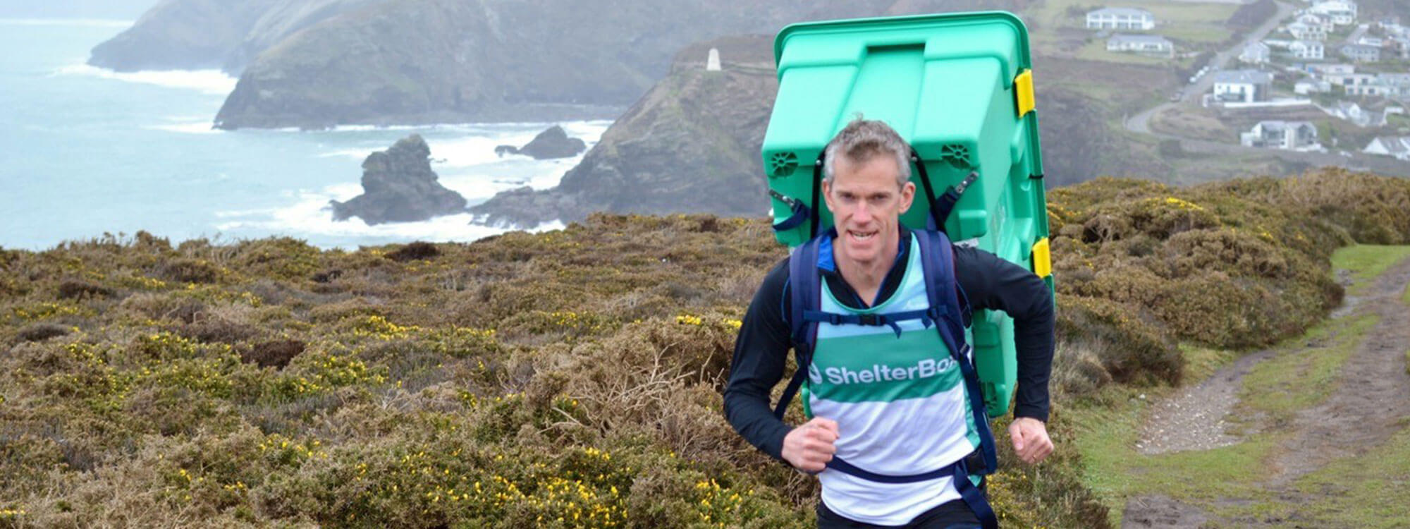 man running for shelterbox charity event