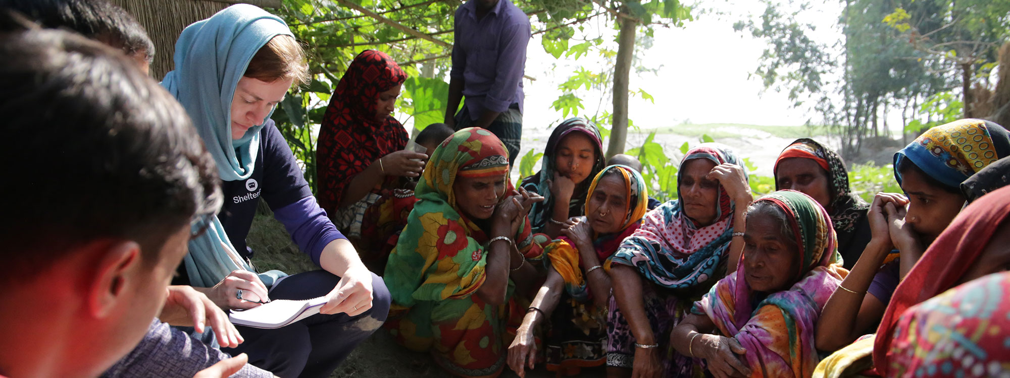shelterbox conduct monitoring and evaluation in bangladesh