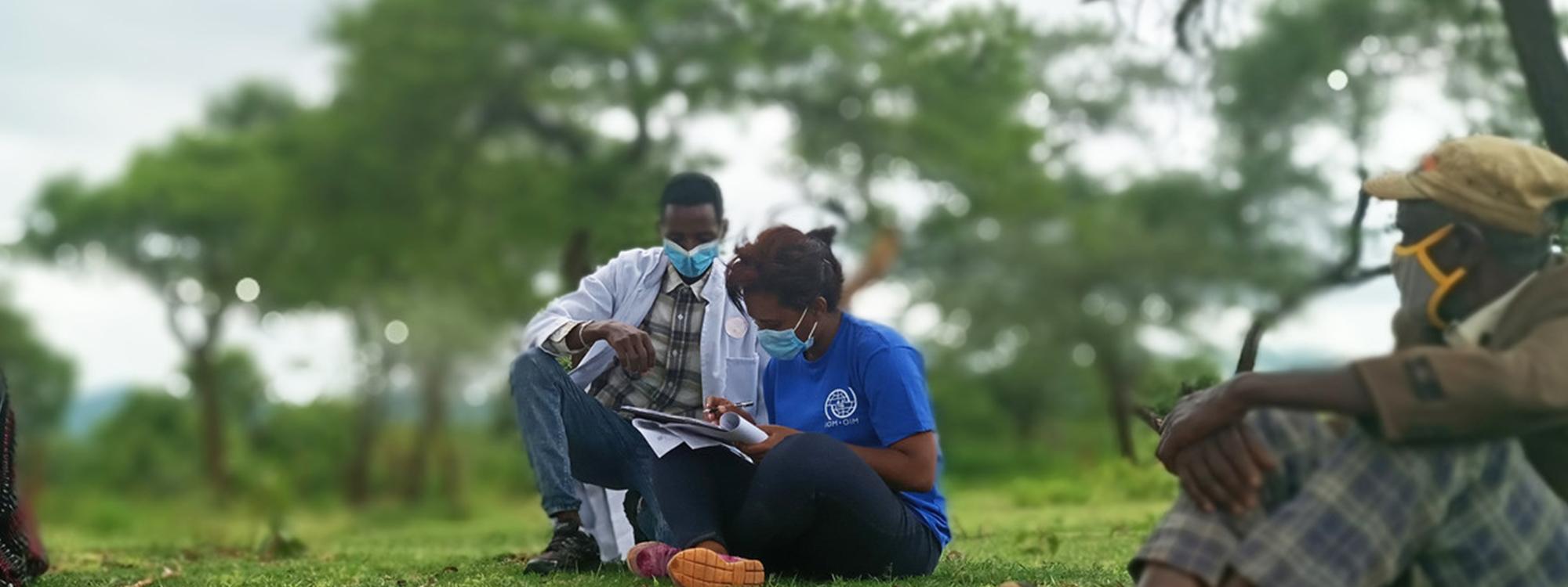 people wearing masks in Ethiopia