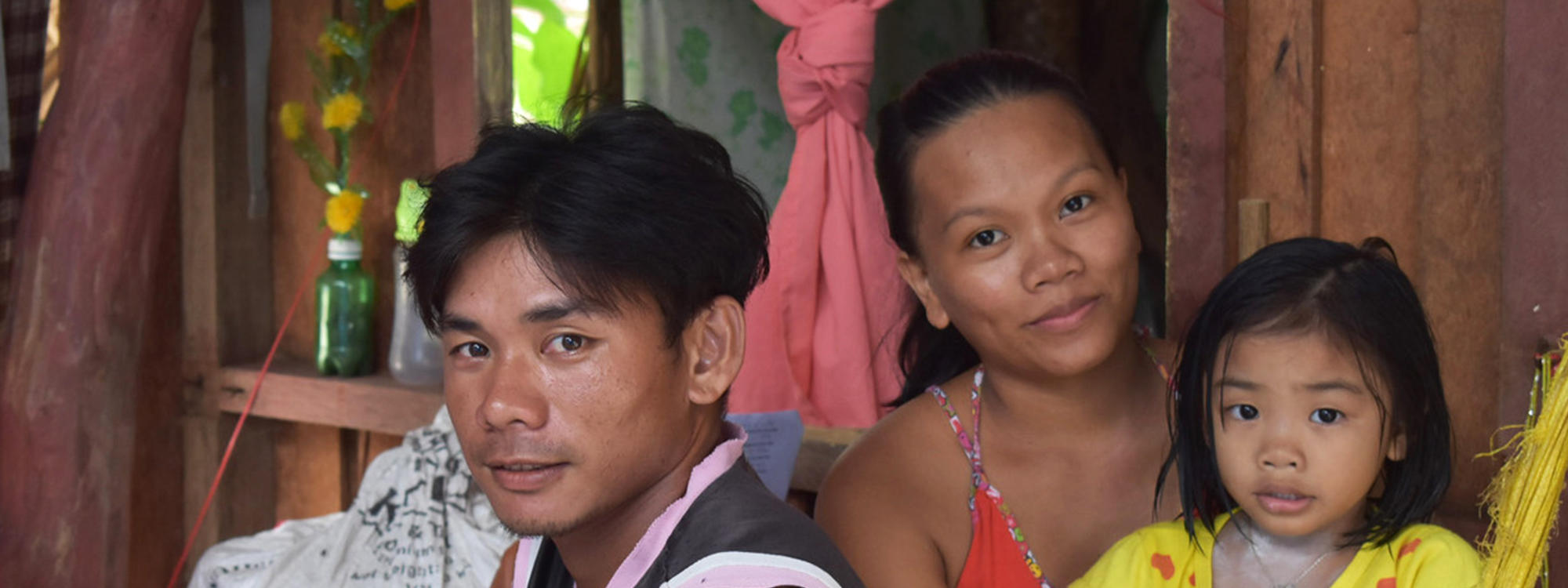 A family of three in the Philippines