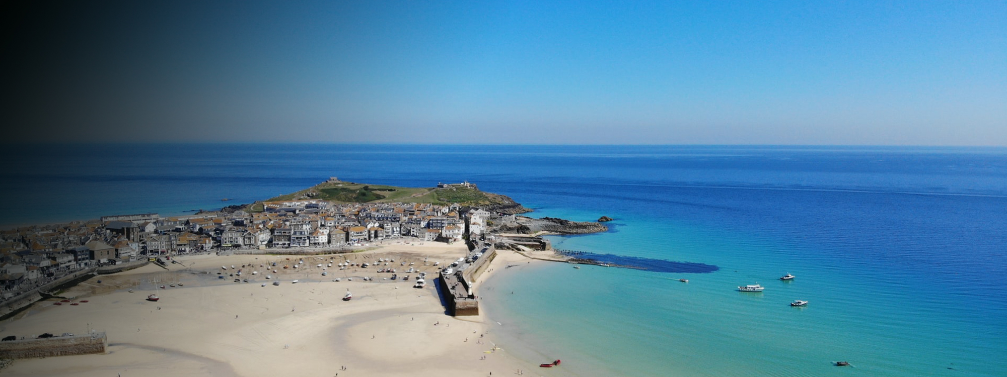 St Ives Cornwall from above