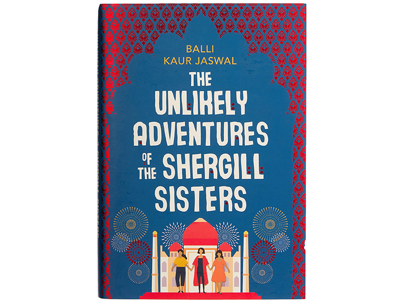 'Unlikely' cover showing sisters and the Taj Mahal in background