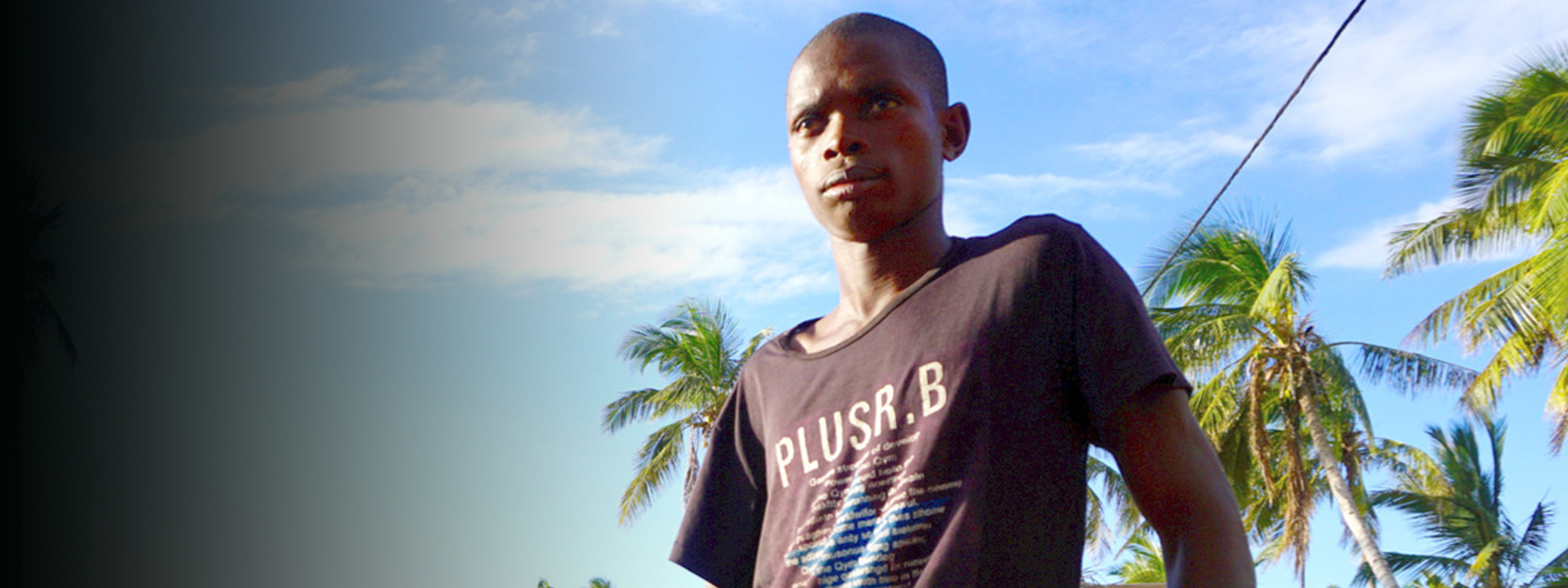 A man in Mozambique