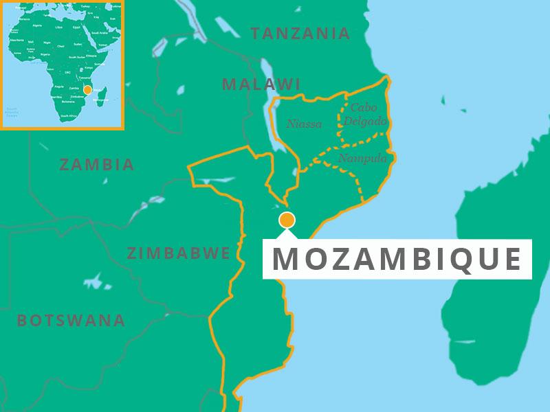Mozambique map illustration